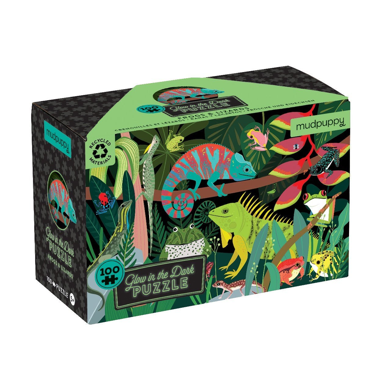 frogs and lizards - 100 piece puzzle