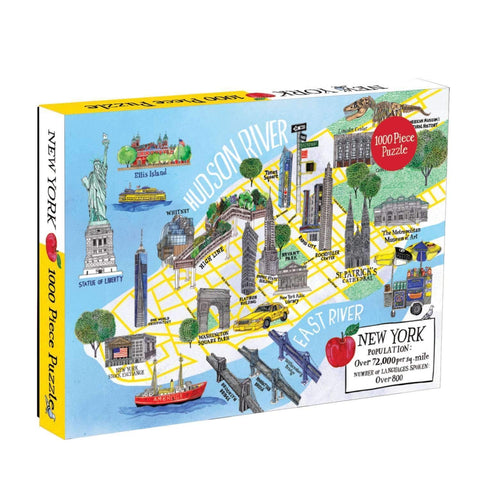 New York City map - 1000 piece puzzle