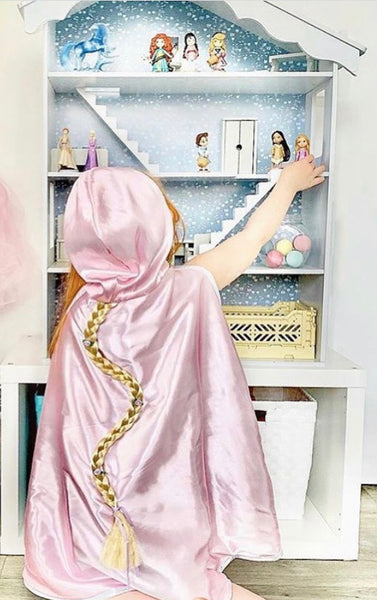 reversible cinderella/repunzel cape