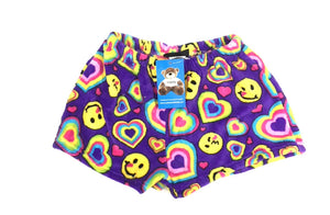 emoji heart fuzzie shorts