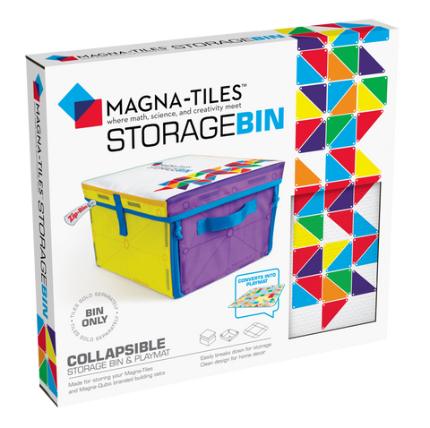 magna -tiles storage bin and interactive playmat