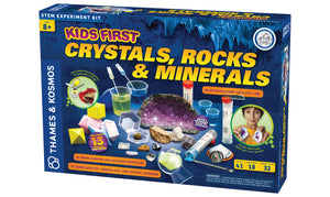 crystals, rocks & minerals stem experiment kit