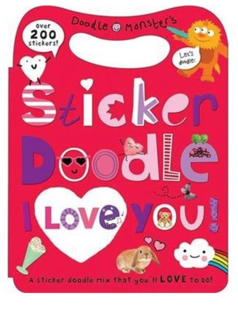 sticker doodle - i love you
