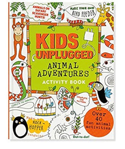 kids unplugged activity book - animal adventures