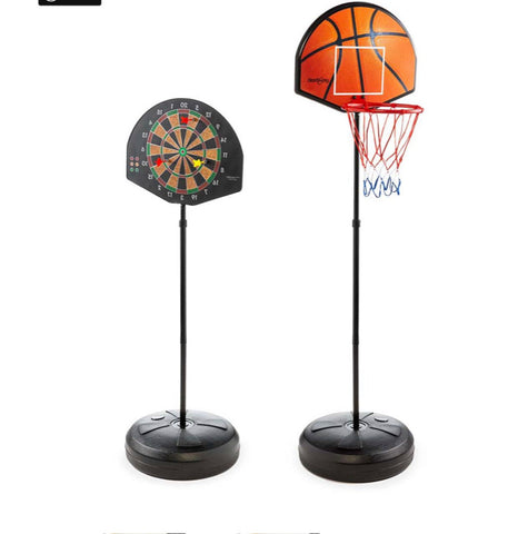 2 in 1 basketball & magnetic dart game