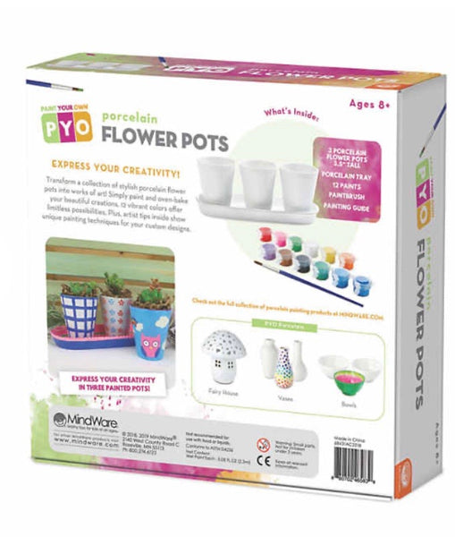 paint your own porcelain flower pots