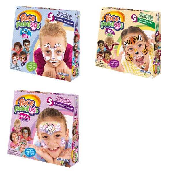 face paintoos - wild pack, pet pack, magical pack