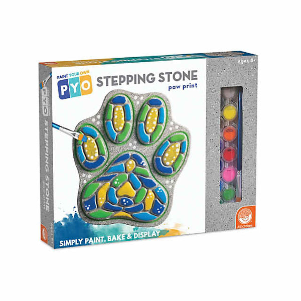 paint your own stepping stone - paw print