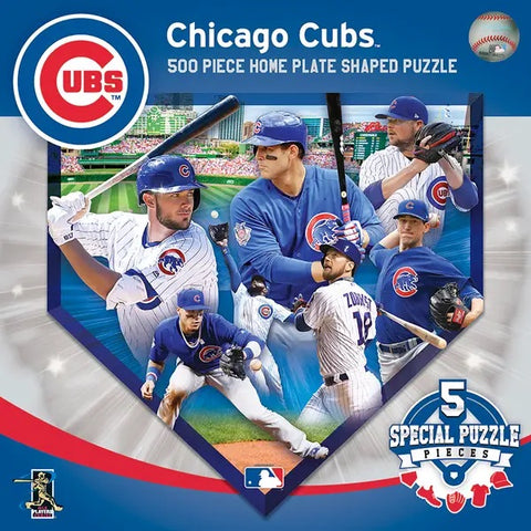chicago cubs home plate shaped puzzle - 500 pieces