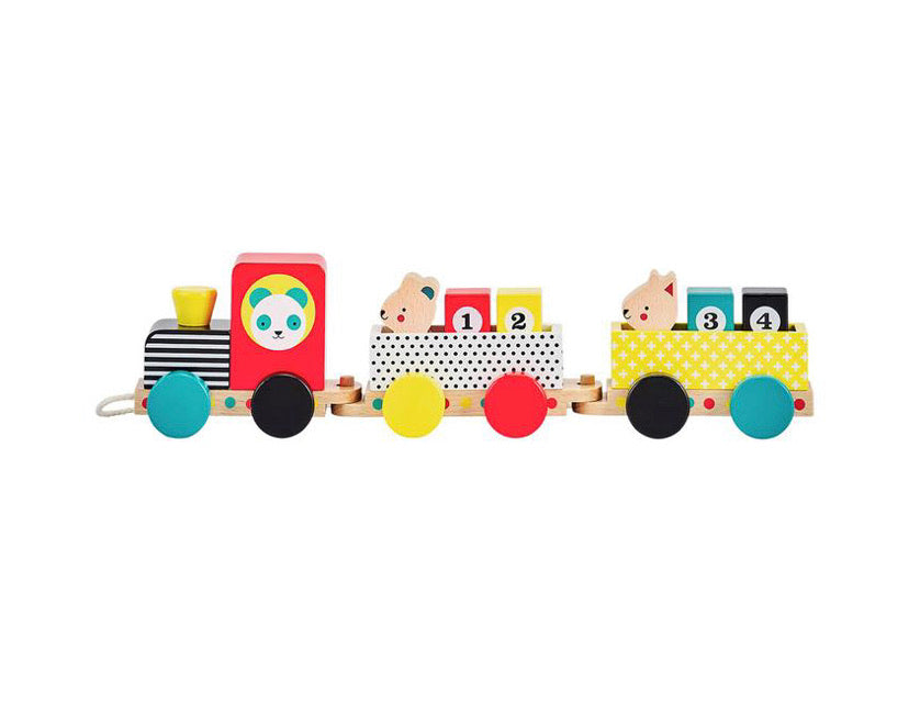 animal friends wooden train