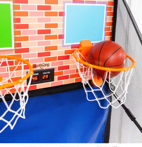 over the door dual electronic basketball game