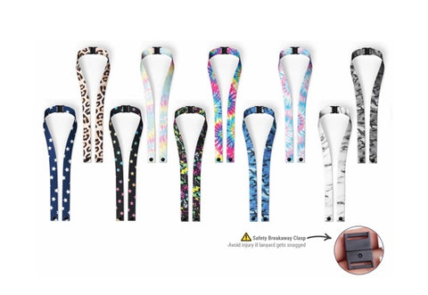 mask lanyard with safety breakaway clip - teen/adult