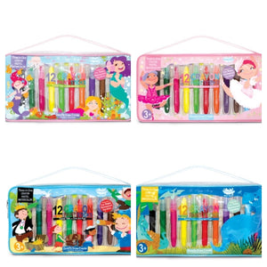 crayon paint stick travel tote