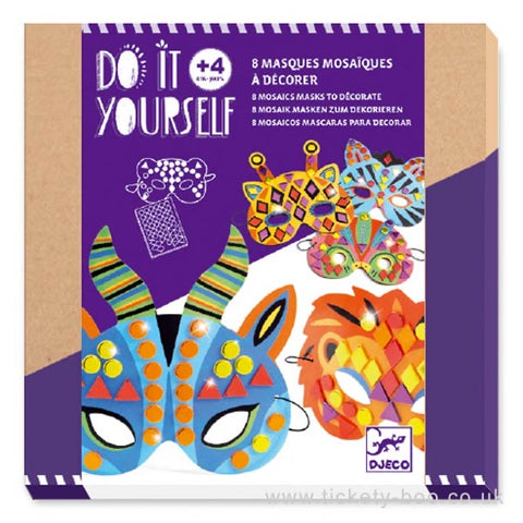 mosaic jungle animal masks