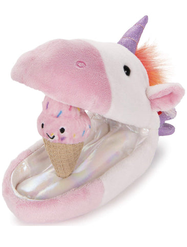 unicorn plush pod with ice cream cone