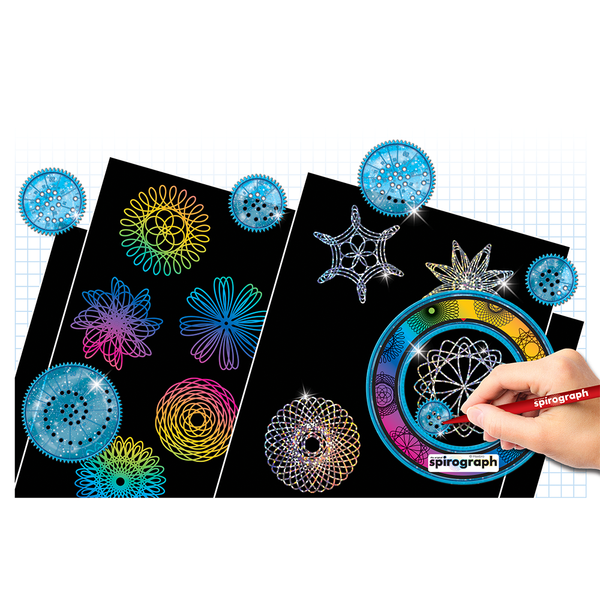 the original spirograph - scratch and shimmer