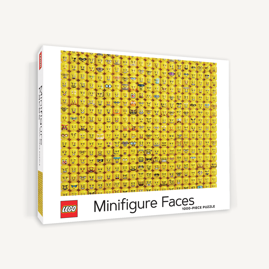 lego minifigure faces - 1000 piece puzzle