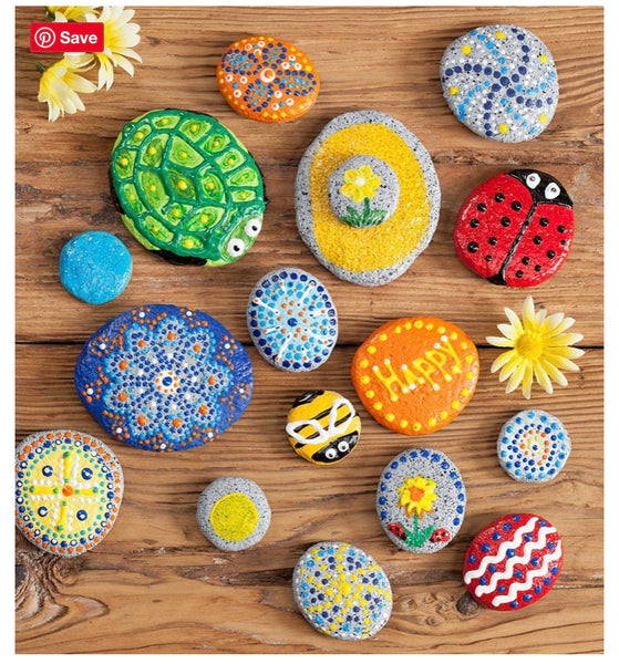 paint your own rocks - mandala