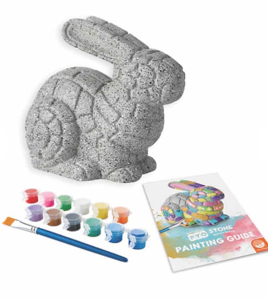 paint your own stone mosaic bunny