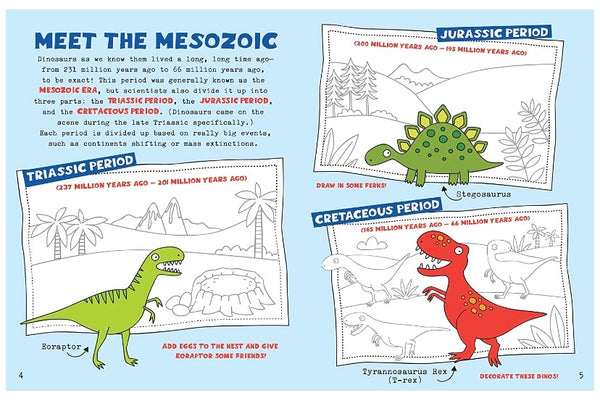 kids unplugged activity book - dinosaurs and friends