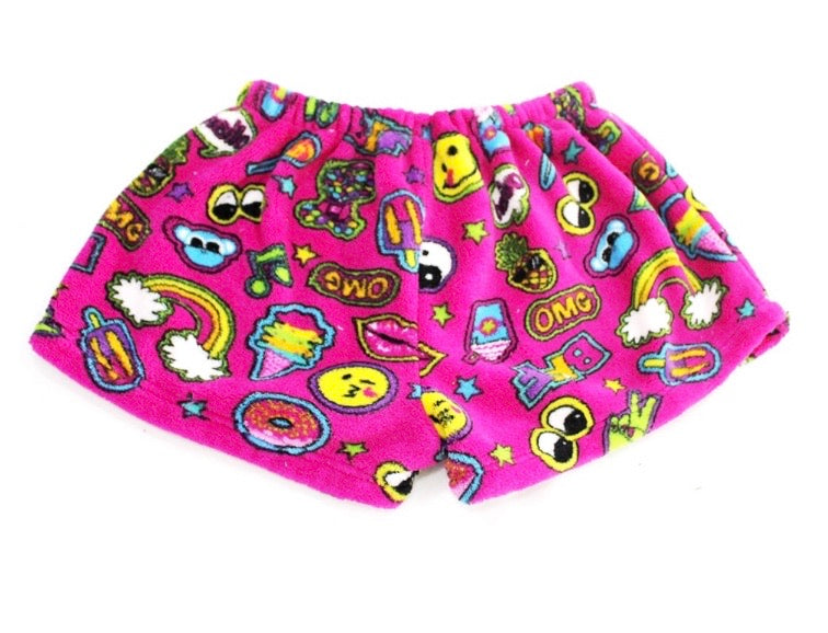 patches fuzzie shorts
