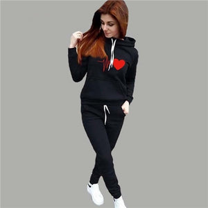 2019 Autumn Winter 2 Piece Set Women Hoodie Pants
