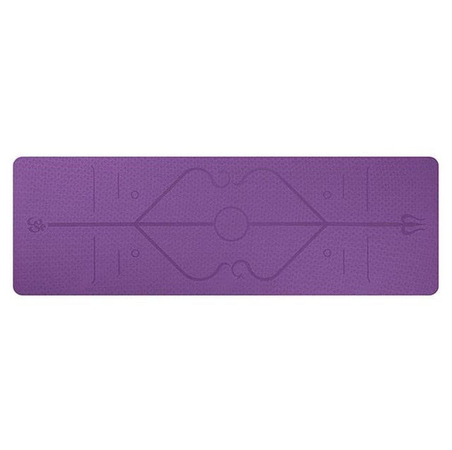 1830*610*6mm TPE Yoga Mat with Position Line