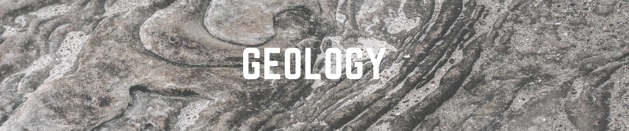 Geology text on an image background