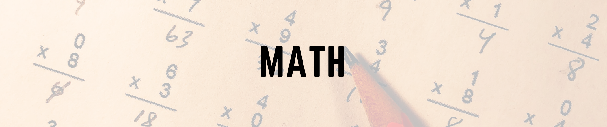 Math text on image background
