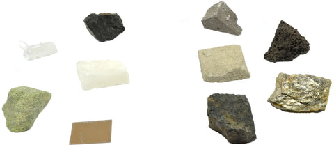 Which mineral matches which rock?