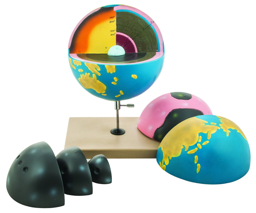 7 Piece Cross-Sectional Earth Model, 13 Inch - Removable Parts