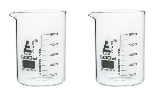 Beaker Pint Glass, 600mL, 50mL Graduations - Set of 2