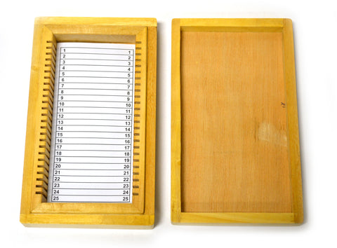 25 Slot Wooden Storage Box for 25 x 75mm slides. - hBARSCI