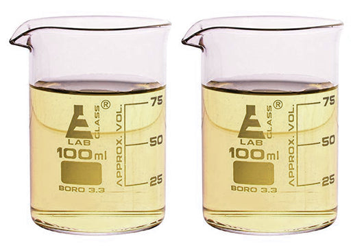 Beaker Double Shot Glasses, 100mL - Set of 2