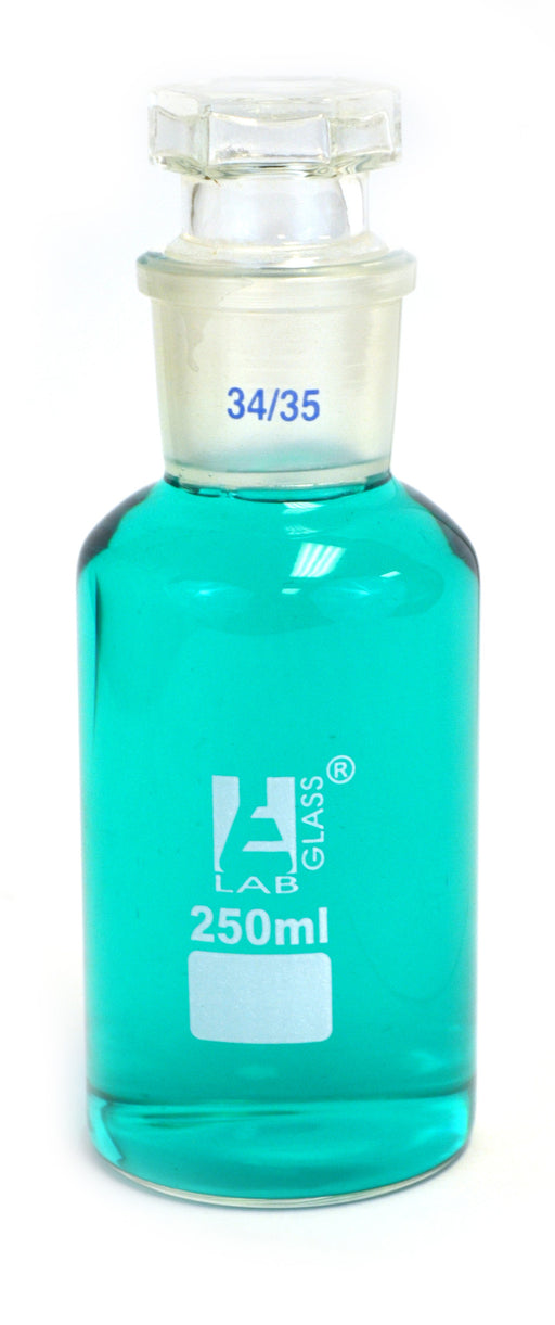 250ml Reagent Glass Bottle - Wide mouth with Stopper - hBARSCI