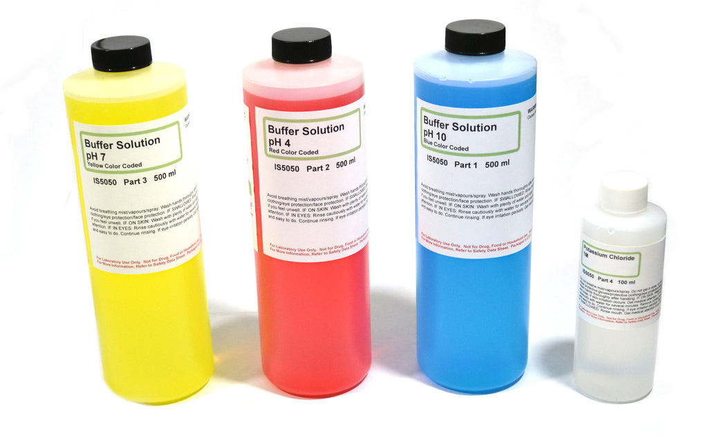 pH Calibration & Maintenance set - pH 4,7,10, Potassium Chloride