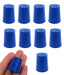 Neoprene Stopper Solid - Blue, Size: 17mm Bottom, 20mm Top, 26mm Length - Pack of 10