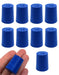 Neoprene Stopper Solid - Blue, Size: 18mm Bottom, 21mm Top, 26mm Length - Pack of 10