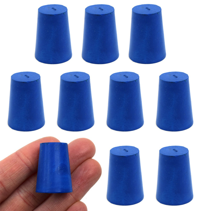 Neoprene Stopper ASTM Solid - Blue ASTM Size: #1 - 14mm Bottom, 19mm Top, 25mm Length - Pack of 10