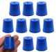 Neoprene Stopper ASTM Solid - Blue ASTM Size: #4 - 20mm Bottom, 26mm Top, 25mm Length - Pack of 10
