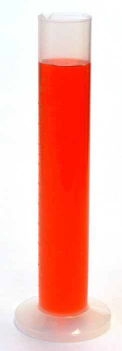 100mL Graduated Cylinder, Polypropylene, 1mL Graduations