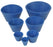 Rubber Filter Adapter Cones for Buchner Funnels - Set of 7