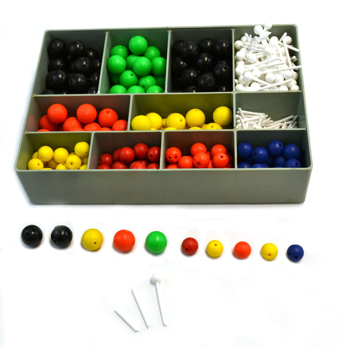 Organic and Inorganic Chemistry Molecular Atomic Model Set - 520 Pieces with Hard Plastic Case