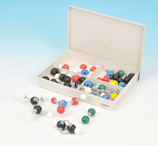 Eisco Labs Basic Inorganic and Organic Chemistry Molecular Model Set, 64 Pieces