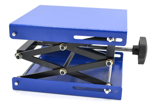 Scissor Jack Laboratory Stand with 7.75 in x 7.75 in Plate, Fully Extended Height 12 in - Eisco Labs