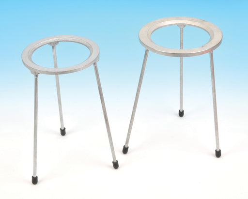 Tripod Stand - Circular, Zinc plated cast iron top, OD 15cm, height 21cm.