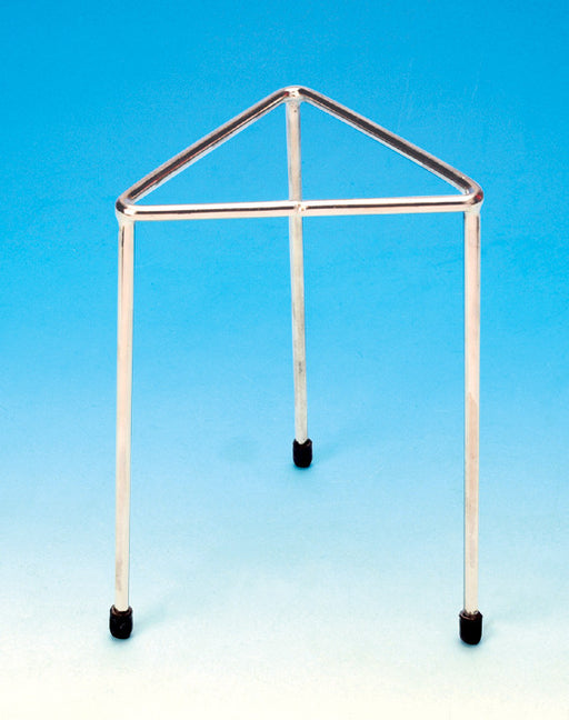 Tripod Stand - Triangular, Stainless steel, height 20cm., length of side 12.5cm.