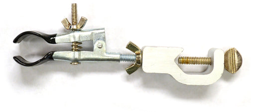 Eisco Labs Burette/Test Tube Clamp, PVC Coated Round Jaws, Opens up to 45mm in Dia.