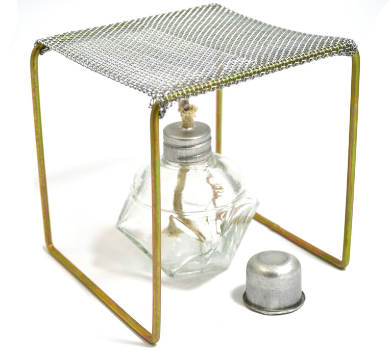 "Alcohol Burner with Burner Stand (Approx. 5""x5""x5"") Starter Set - hBARSCI"