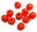 Eisco Labs Molecular Model Part; Red Ball; 1.5cm; 1 Hole; Pk of 10